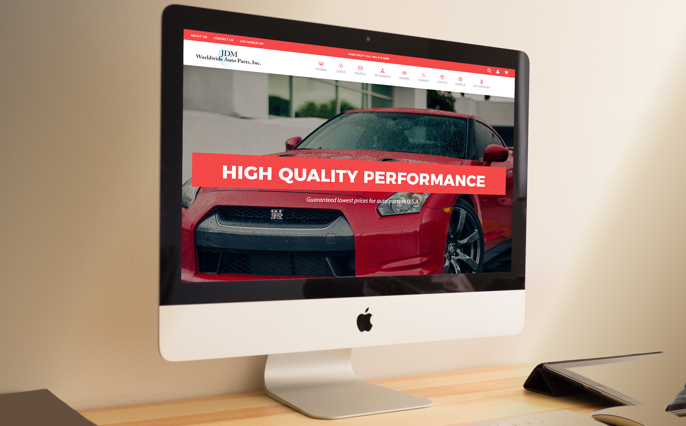 JDM Worldwide Auto Parts Website Design - IWW Blog